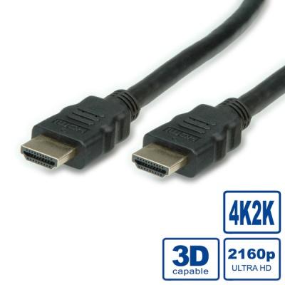 Cablu HDMI Ultra HD cu Ethernet v2.0 1m, Value 11.99.5680