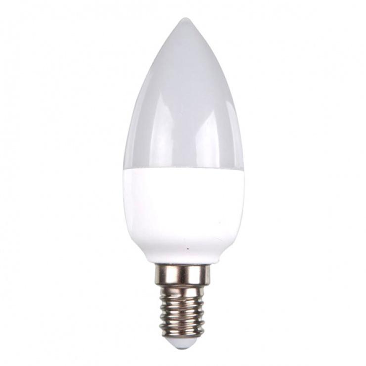 Bec cu LED forma lumanare 4W E14 3000K, V-TAC 4215