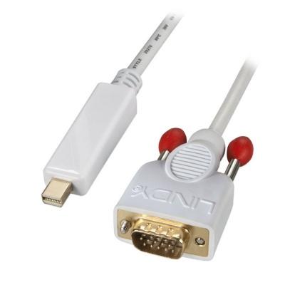 Cablu Mini Displayport la VGA 2m T-T Alb, Lindy L41476