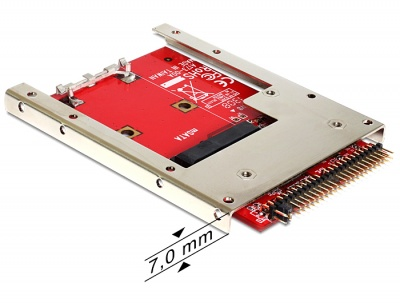 Convertor IDE 44 Pini la mSATA + frame 2.5