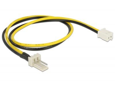 Cablu alimentare ventilator 2 pini la 3 pini M-T 30cm, Delock 83655
