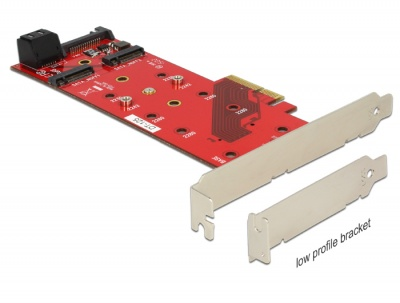 Imagine PCI Express cu 3 x sloturi M.2 NGFF, Delock 89394
