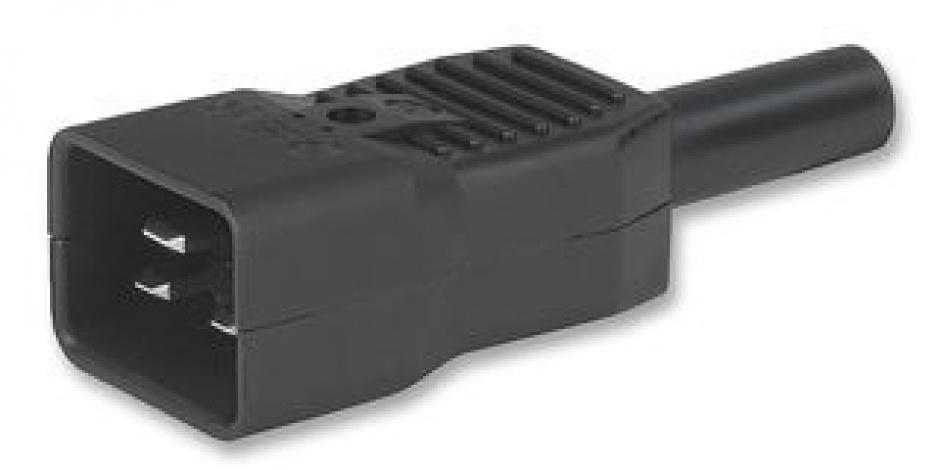 Conector de alimentare C20 IEC60320 230V tata