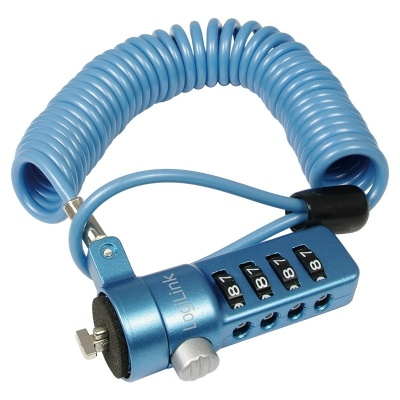 Cablu antifurt laptop cu cifru, Blue, Logilink NBS006