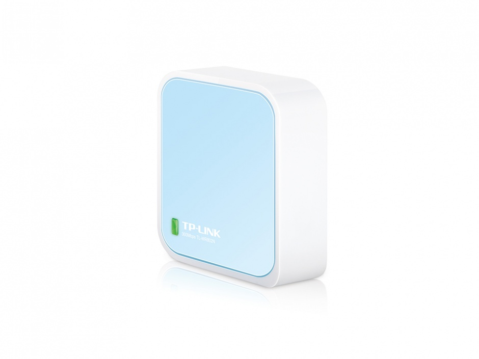 ROUTER WIRELESS PORTABIL, 1 port WAN/LAN, 300Mbps, TP-LINK TL-WR802N