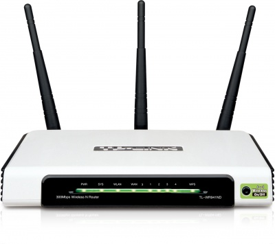 Imagine Router Wireless N 300Mbps, TP-Link TL-WR941ND