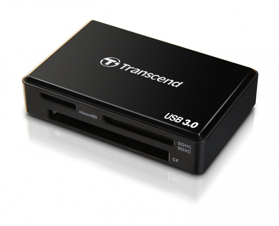 Cititor de carduri pe USB 3.0 USB 3.0 All-in-1, Transcend