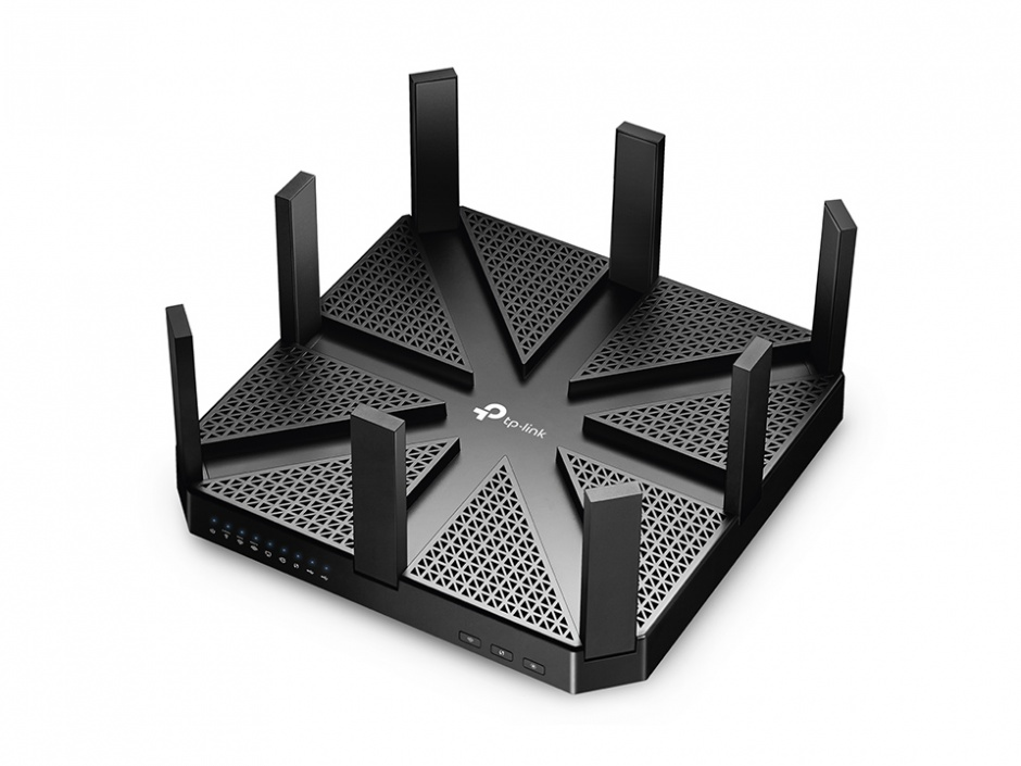 Imagine Router wireless 4 poirturi Tri Band Gigabit, TP-LINK AD7200