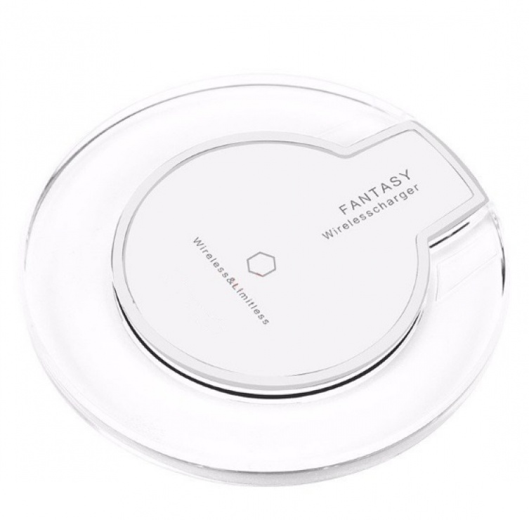 Imagine Qi Wireless charger pad pentru Samsung Galaxy S6/S6 Edge Alb 5V/2A