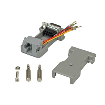 Imagine Adaptor serial DB9 la RJ45, Roline 12.03.7525