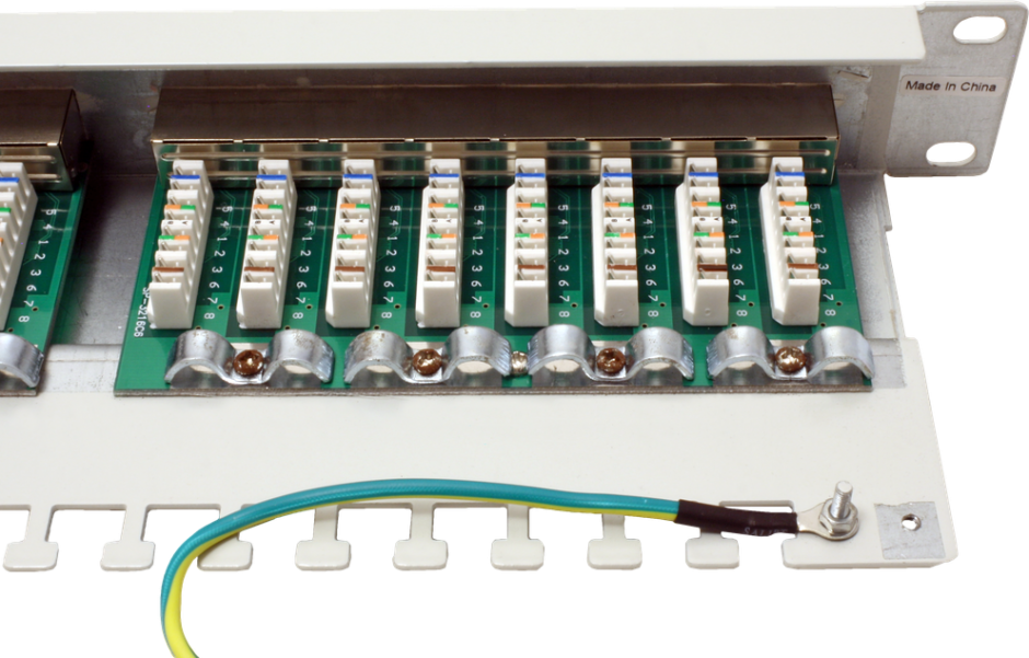 Imagine Patch Panel Value STP Cat.5e 24 porturi, ecranat, gri 26.99.0329