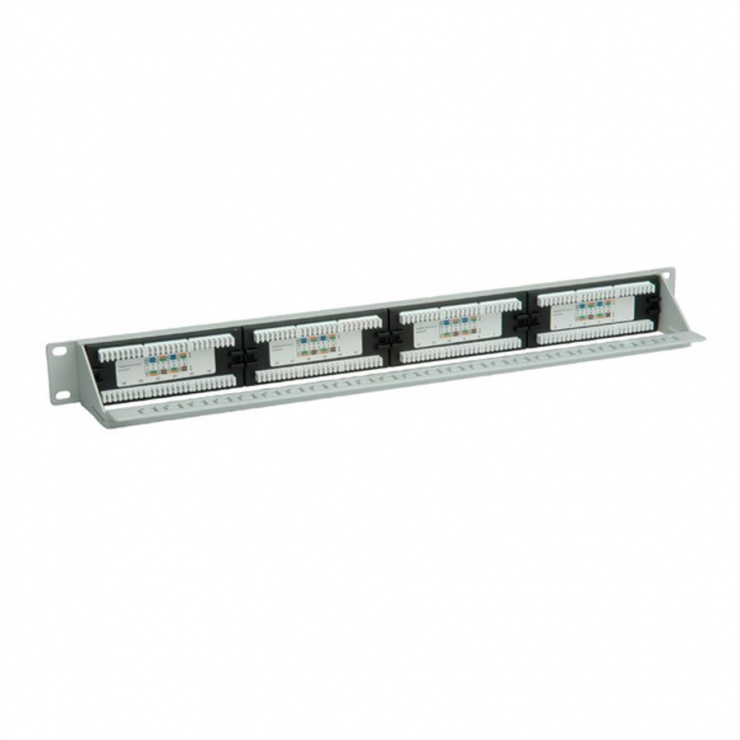 "Imagine Patch Panel 19"" UTP Cat.6A 24 porturi gri, Value 26.99.0359"