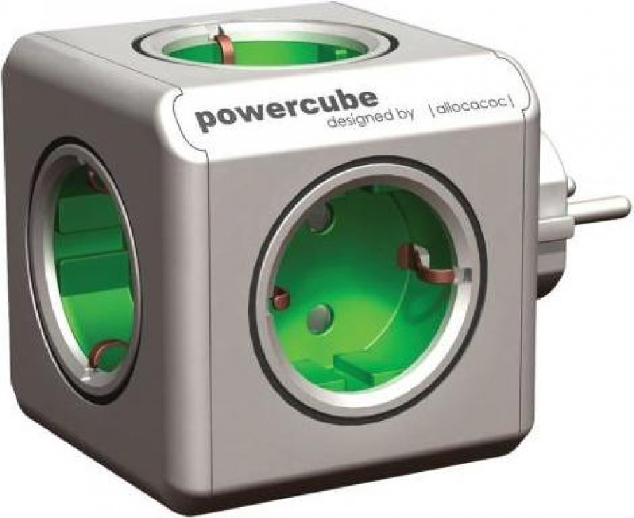 Imagine Priza cubica cu 5 x prize Schuko 16A, Power Cube SPP1803