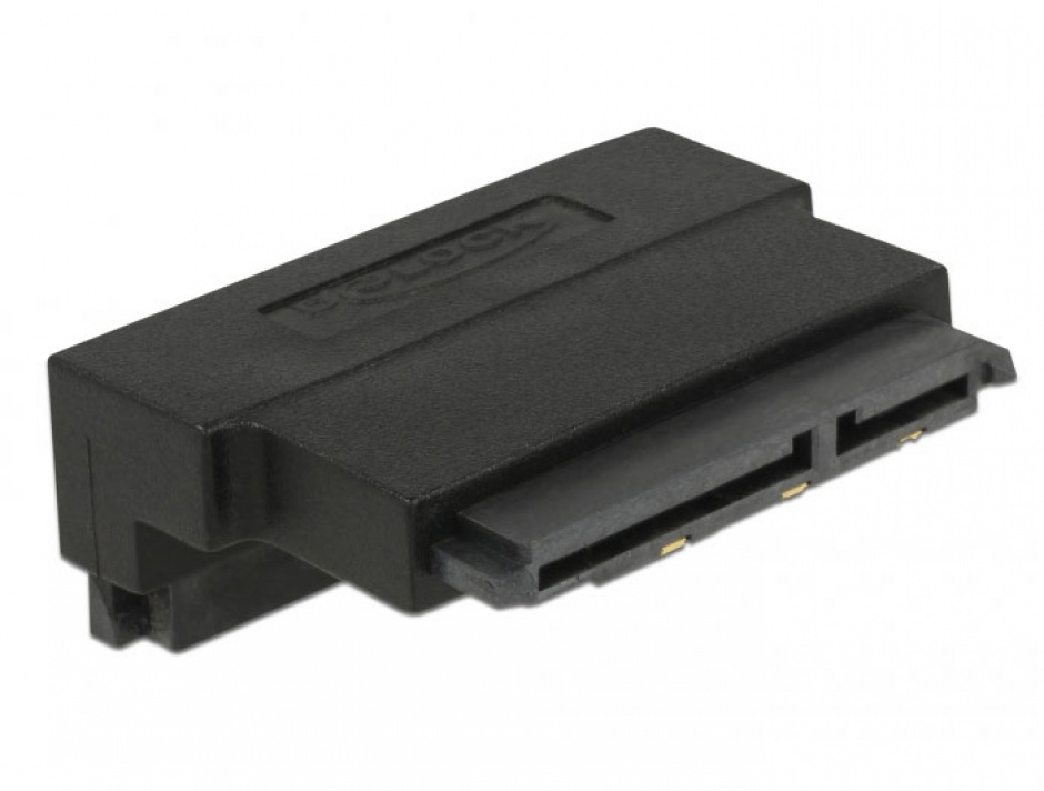 Imagine Adaptor SATA 22 pini T-M unghi 90 grade sus, Delock 63944-1