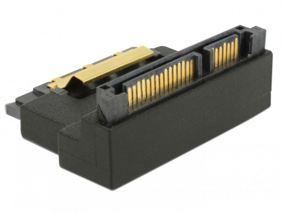 Imagine Adaptor SATA 22 pini T-M unghi 90 grade sus, Delock 63944-3