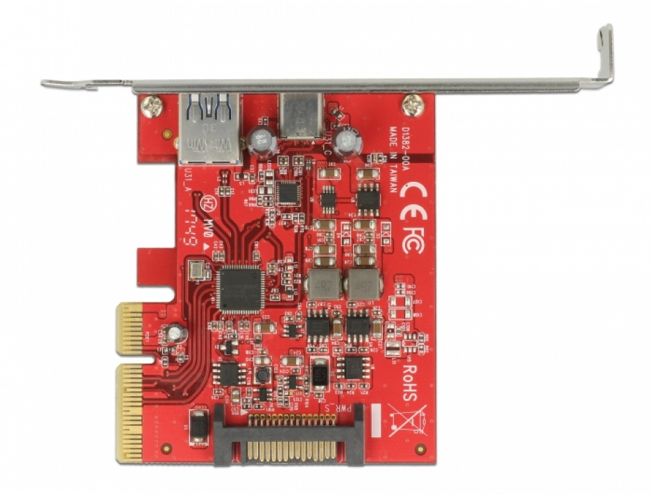 Imagine PCI Express la 1 port extern USB-C + 1 x extern USB 3.1-A  Gen 2, Delock 89898