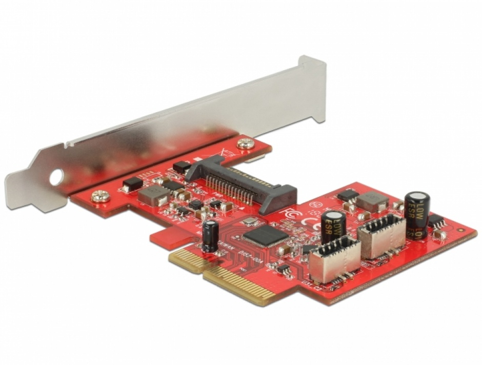 Imagine PCI Express la 2 x USB 3.1 Gen 2 key A 20 pini, Delock 89906