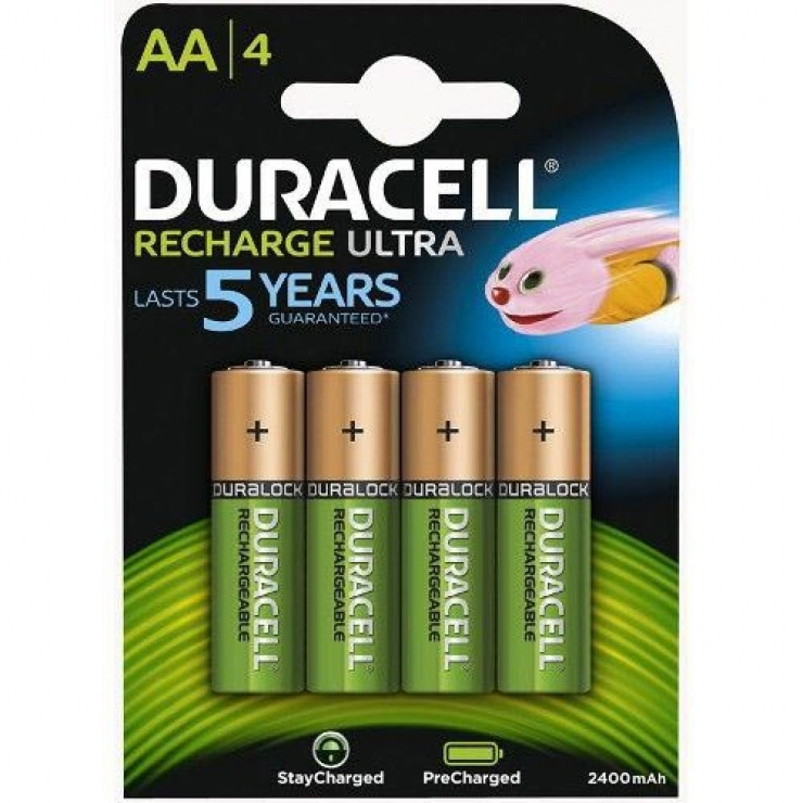 Imagine Set 2 acumulatori AA 2500 mAh Turbo, Duracell