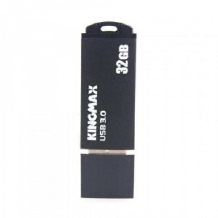 Imagine Stick USB 3.0 32GB MB-03 compact, aliaj aluminiu Black, Kingmax