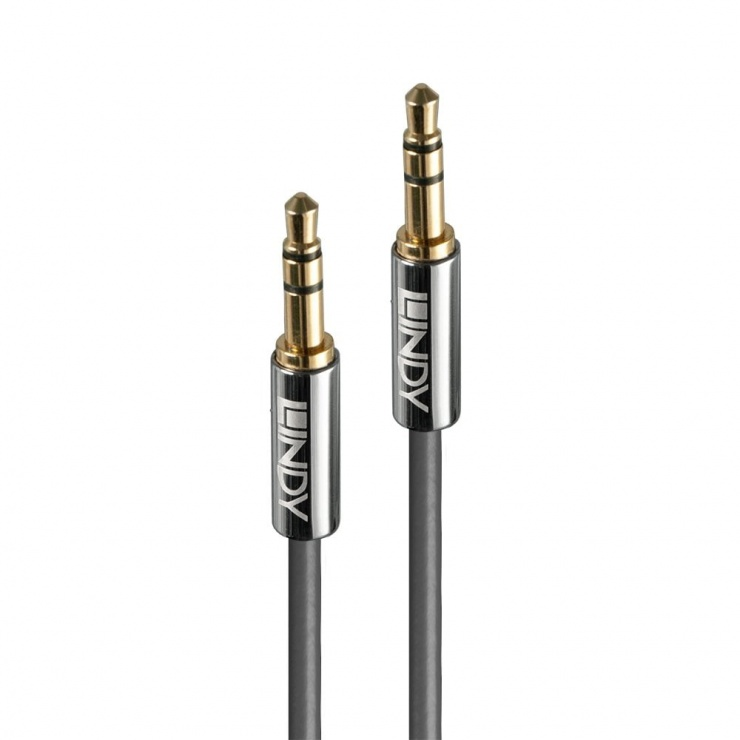 Imagine Cablu audio jack stereo 3.5mm CROMO LINE T-T 10m, Lindy L35325