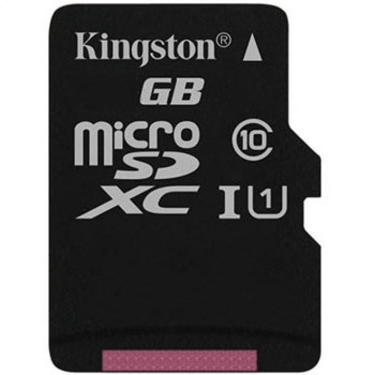 Card de memorie micro SD Canvas Select 128GB clasa 10, Kingston SDCS/128GBSP