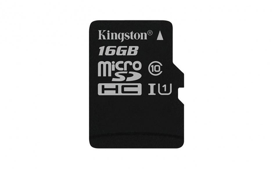 Card de memorie micro SD Canvas Select 16GB clasa 10, Kingston SDCS/16GBSP