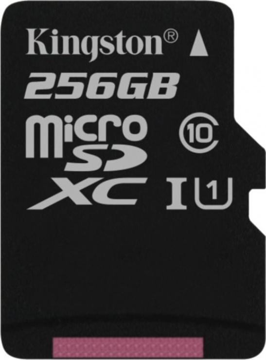 Card de memorie micro SD Canvas Select 256GB clasa 10, Kingston SDCS/256GBSP