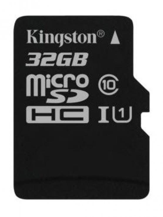 Card de memorie micro SD Canvas Select 32GB clasa 10, Kingston SDCS/32GBSP