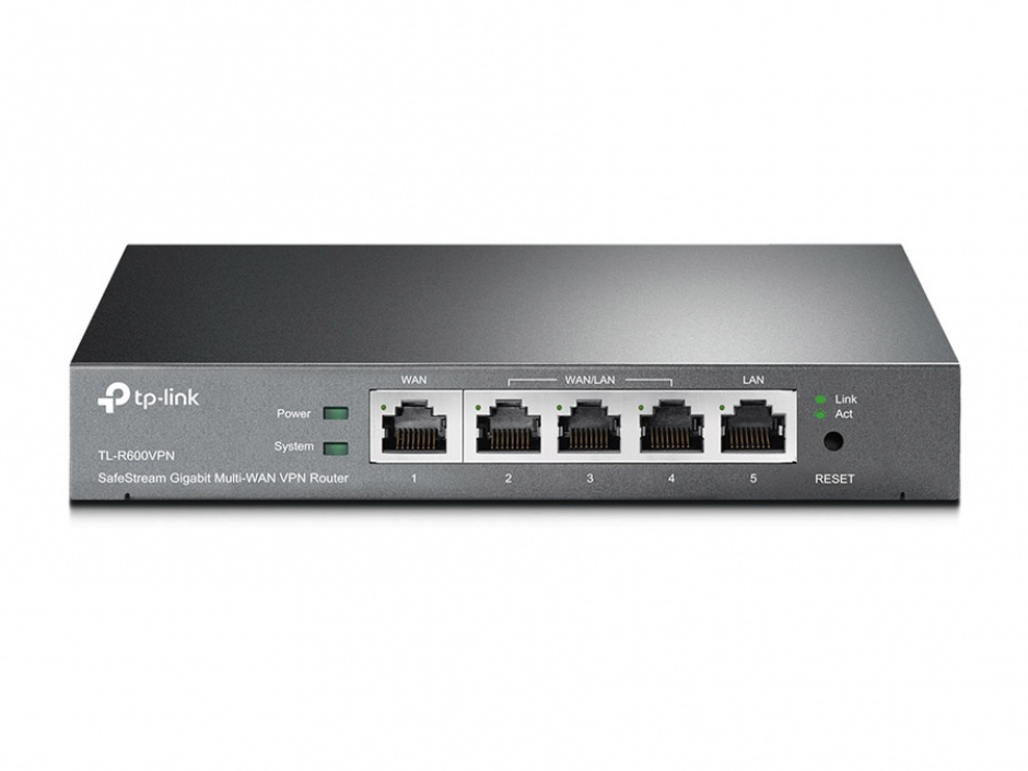 Imagine Router 4 WAN + 1 LAN, Gigabit, tehnologie VPN, TP-LINK TL-R600VPN