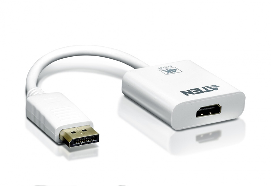Imagine Adaptor activ DisplayPort la 4K HDMI T-M Alb, ATEN VC986