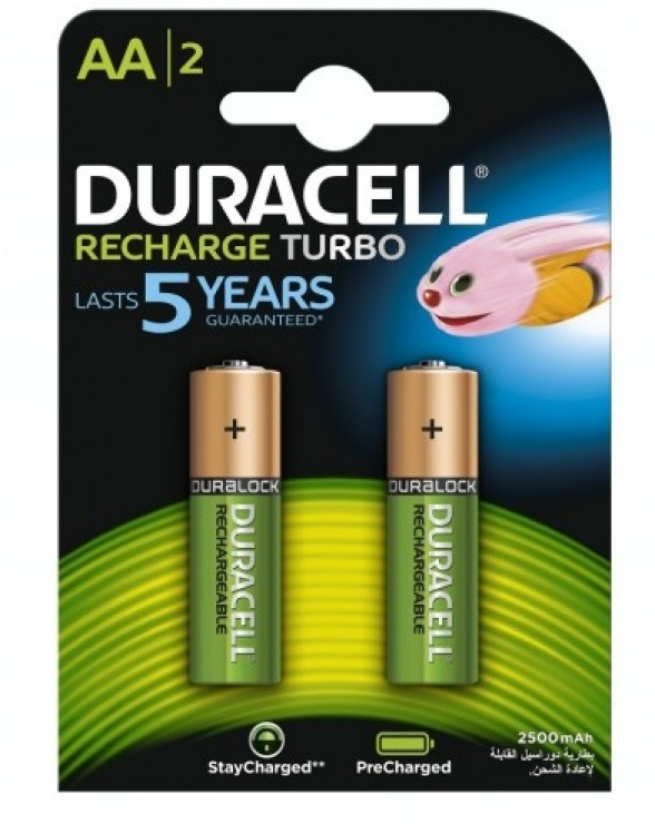Imagine Set 2 buc Acumulatori DURACELL AA 2500mA
