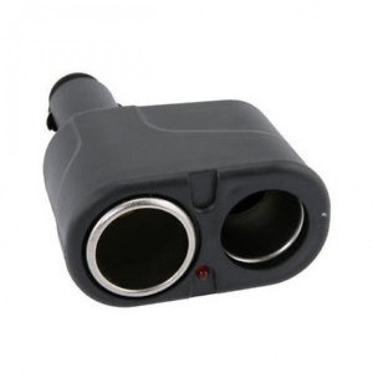 Adaptor auto pentru bricheta la 2 x bricheta, KCAR-01