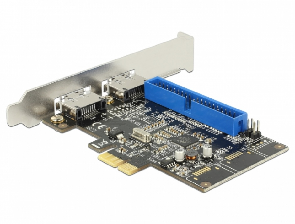 Imagine PCI Express la 2 x eSATA III + 1 x IDE, Delock 89292-1