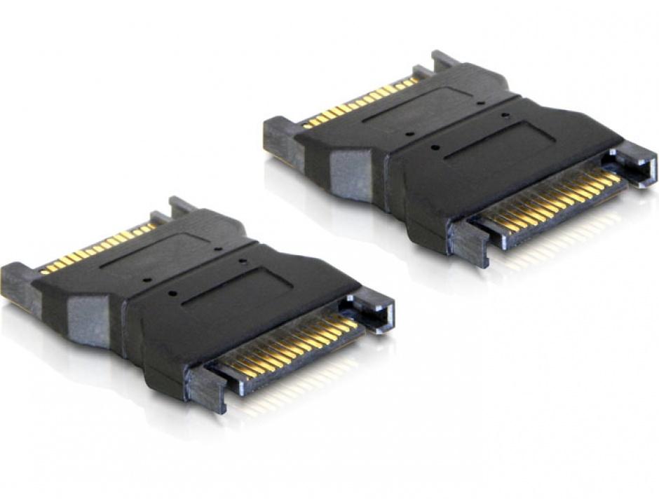 Adaptor alimentare SATA 15 pini T - T, Delock 65043