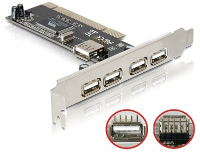 Imagine Placa PCI 5 porturi USB 2.0, Delock 89028