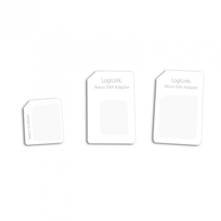 Adaptor SIM (nano-micro/nano-standard/micro-standard), Logilink