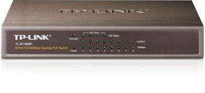 Switch 8 porturi 10/100Mbps PoE, TP-Link TL-SF1008P