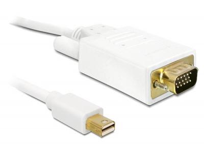 Cablu mini DisplayPort la VGA T-T 2m, Delock 82921