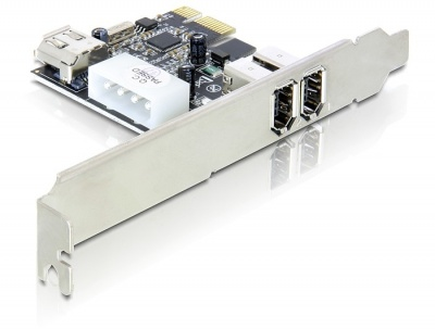 Placa PCI Express 3 porturi FireWire A, Delock 89213