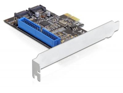 Placa PCI-Express la 2 X SATA III si 1 X ATA, Delock 89293