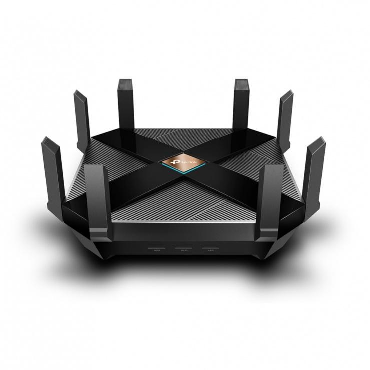 Router wireless Dual Band 802.11ax/Wi-fi 6 cu 6 antene externe, TP-LINK Archer AX6000