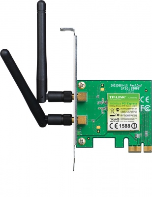 Imagine Placa de retea Wireless PCI-E 300Mbps 2T2R, TP-LINK TL-WN881ND