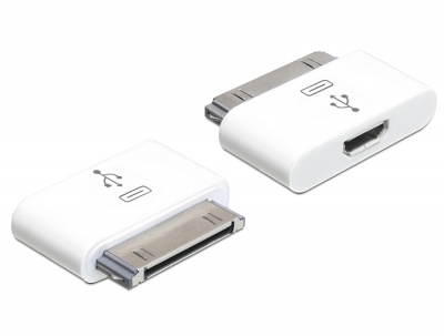 Imagine Adaptor mobil pentru iPhone / iPad la micro USB B, Delock 65357