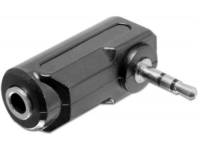 Adaptor audio stereo jack 2.5 mm T la 3.5 mm 3 pini M unghi, Delock 65368