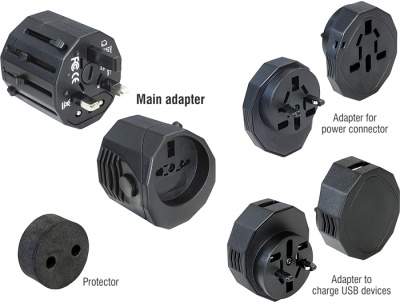 Imagine Adaptor Universal Priza UK/USA/AU/EU/CN/JP, Delock 65404
