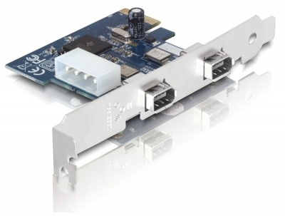 Imagine Placa PCI Express la 2 X Firewire A, Delock 89202