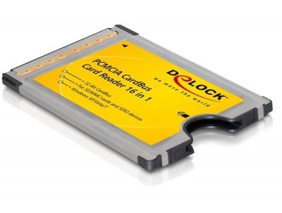 Cititor de carduri PCMCIA CardBus 16 in 1, Delock 91481