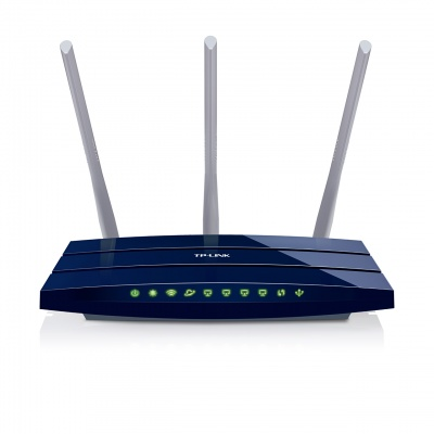 Imagine Router Wireless N Gigabit 300Mbps, TP-Link TL-WR1043ND