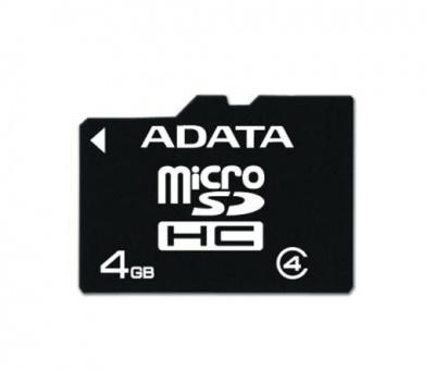 Card memorie micro SDHC 4GB ADATA, class 4