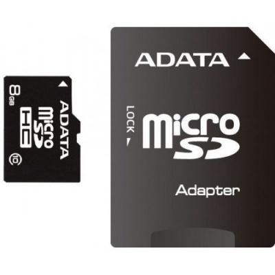 Card memorie micro SDHC 8GB ADATA, adaptor SD, class 10
